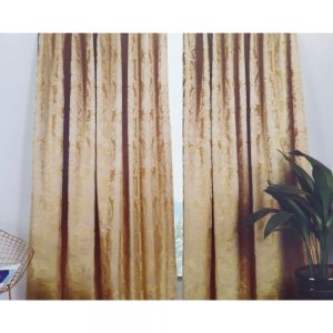 Vogue Ochre 66x90 Lined Curtains