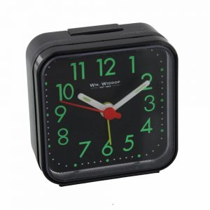 Black Square Travel Alarm Clock