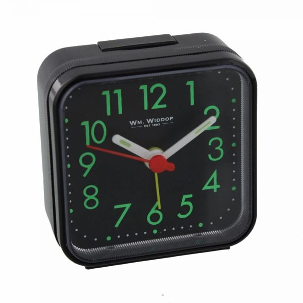 Black Square Travel Alarm Clock