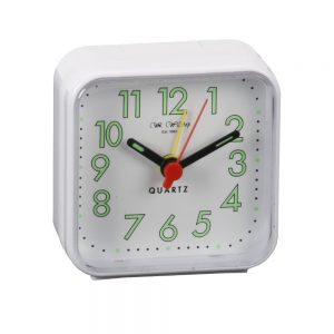 White Square Travel Alarm Clock