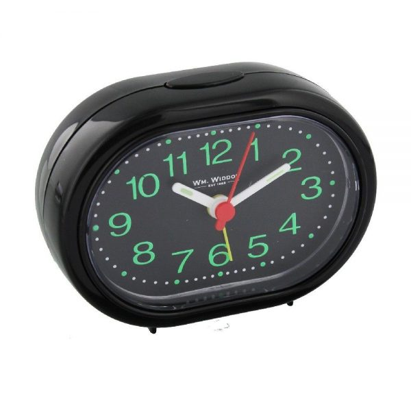 Oval Alarm Clock With Beep Function Black
