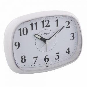 White Oval Alarm Clock