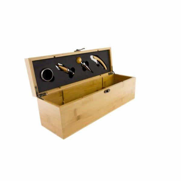 Grunwerg 5 Piece Wine Set with Wooden Bamboo Case