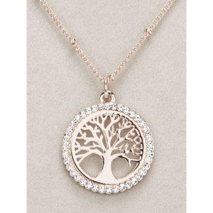 Newgrange Rose Gold Tree of Life Pendant