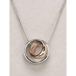 Newgrange Silver and Rose Gold Ring Pendant