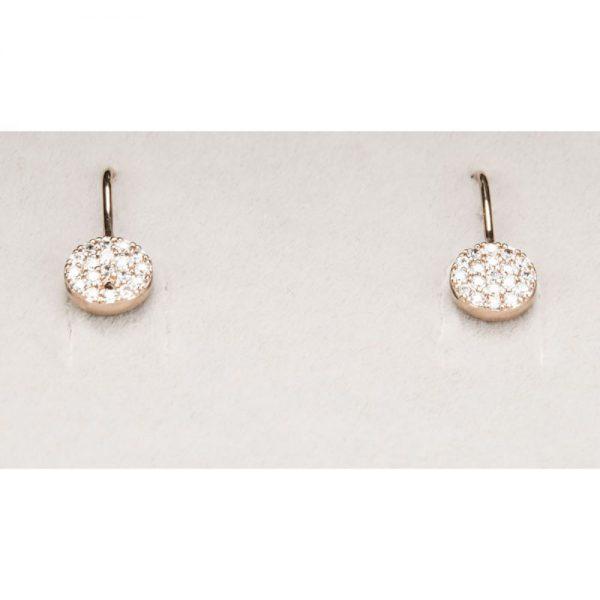 Newgrange Rose Gold Droplet Earrings