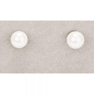 Newgrange White Shell Pearl Stud Earrings