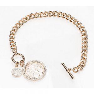 Newgrange Rose Gold Tree of Life Toggle Bracelet