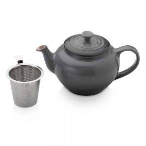 Le Creuset Petite Teapot with Steel Infuser Flint