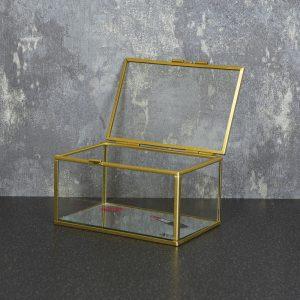 15X10cm Glass Jewellery Box Mirror Base