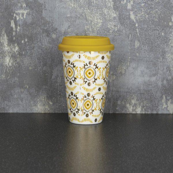 15cm Travel Mug Ochre Gold