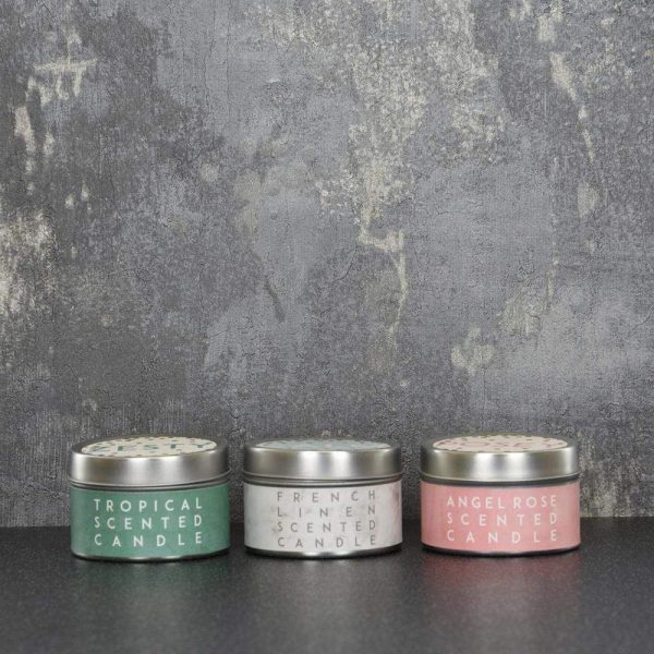 Set of 3 Candle Tins Zesty Posey Calm