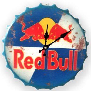 Red Bull 30cm Clock Bottle Top