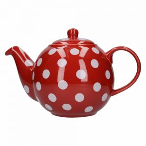 London Pottery Globe 6 Cup Teapot Red With Spots