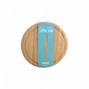 Hevea Wood Round Bread Board 25cm