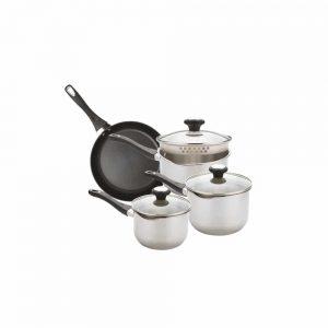 Prestige Strain Away S Steel 4 Piece Saucepan Set
