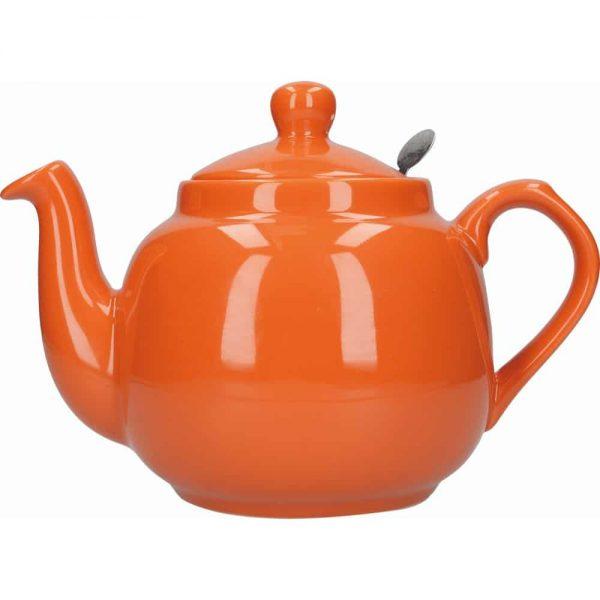 London Pottery Farmhouse 2 Cup Teapot Orange