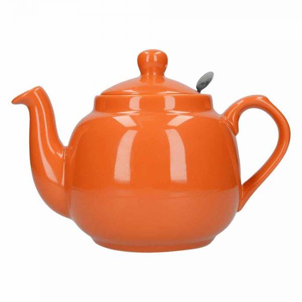 London Pottery Farmhouse 4 Cup Teapot Orange
