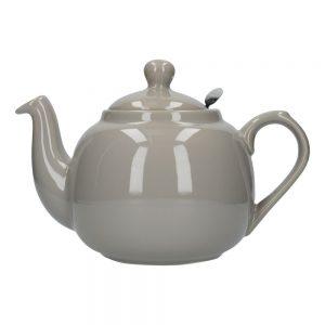 London Pottery Farmhouse 6 Cup Teapot Grey