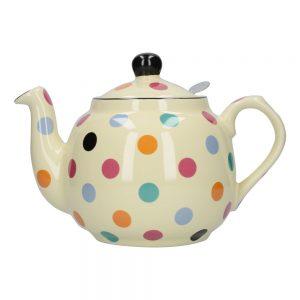 London Pottery Farmhouse 4 Cup Teapot Multi Spot