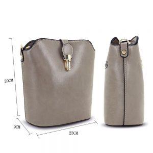 Gessy Dark Taupe Gold Handbag
