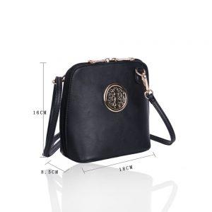 LYDC Circular Detail Mini Cross Body Bag in Black