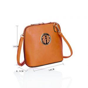 LYDC Circular Detail Mini Cross Body Bag in Brown