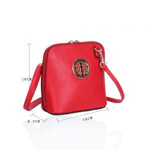 LYDC Circular Detail Mini Cross Body Bag In Red