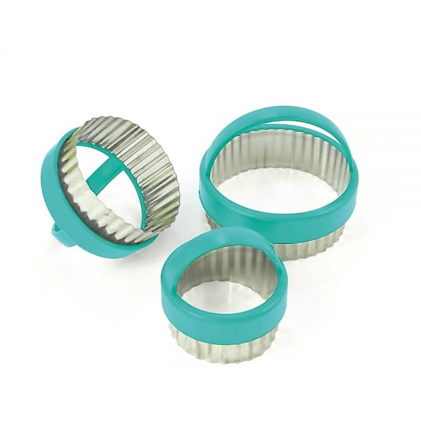 Fluted Pastry Cutter Set Of 3