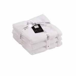 Vossen White Hand Towel Bale Set of 3