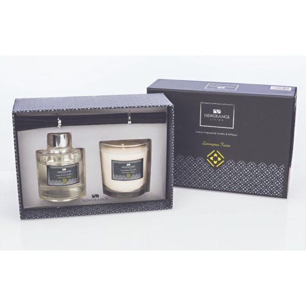 Newgrange Lemongrass Fusion Candle and Diffuser