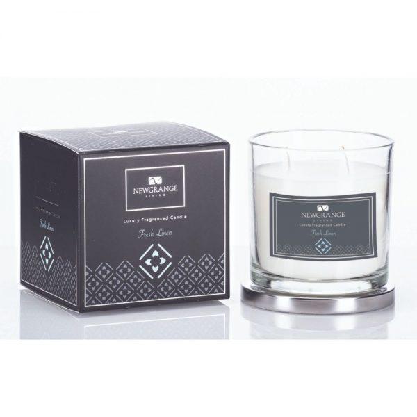 Fresh Linen 2 Wick Luxury Candle