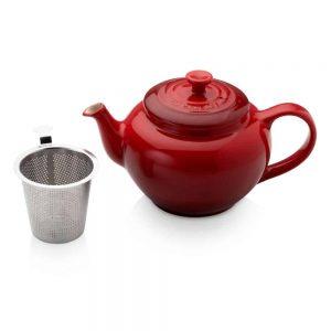Le Creuset Petite Teapot with Steel Infuser Cerise