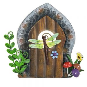Fairy Door   Dragonfly and Blue Flower