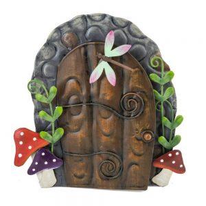 Fairy Door   Toadstools and Scroll Hinges