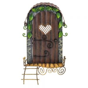 Fairy Door   with heart window and ladder