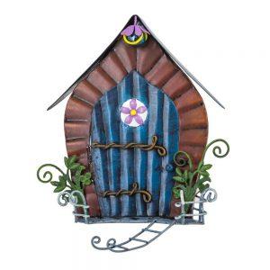 Fairy Door   with round flower window and ladder