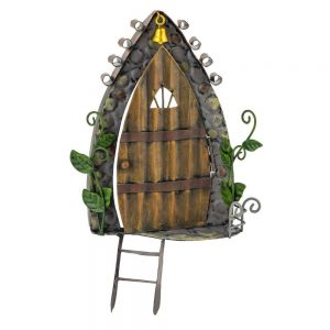 Fairy Kingdom Fairy Door Gold Bell and Ladder