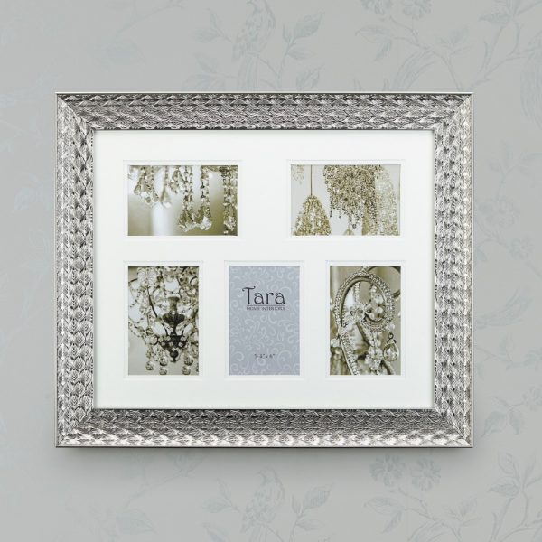 Lavelle Collage Frame Silver Five 4 X 6
