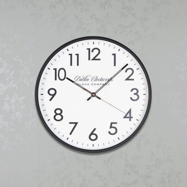 Nina Modern Clock 35cm Black