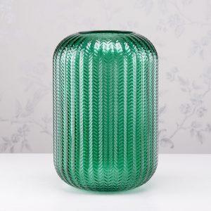 Glass Candleholder Green Height 32cm