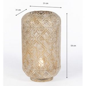 Amira Table Lamp Gold Height 54cm