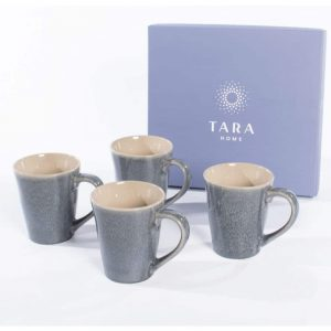 Tara Home Dune Set of 4 Mugs Midnight Blue