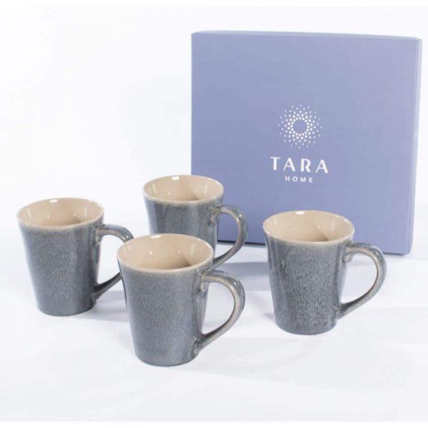 Tara Home Dune Set of 4 Mugs Midnight Blue