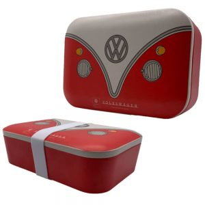 Bamboo VW Campervan Red Lunch Box