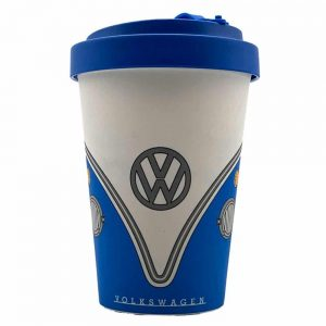VW Campervan Blue Bamboo Travel Mug