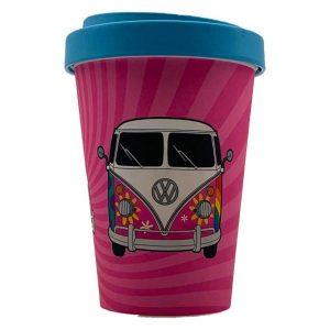 VW Campervan Love Bamboo Travel Mug