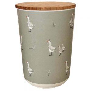 Willow Farm Bamboo Medium Round Storage Jar