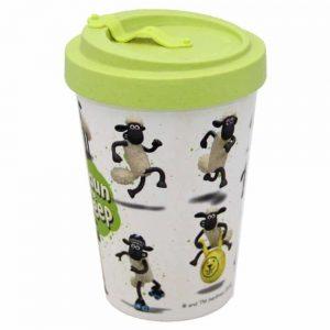 Shaun the Sheep Screw Top Bamboo Travel Mug