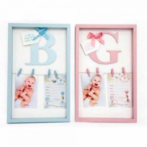 27X43cm 3D Letter Baby Peg Frame